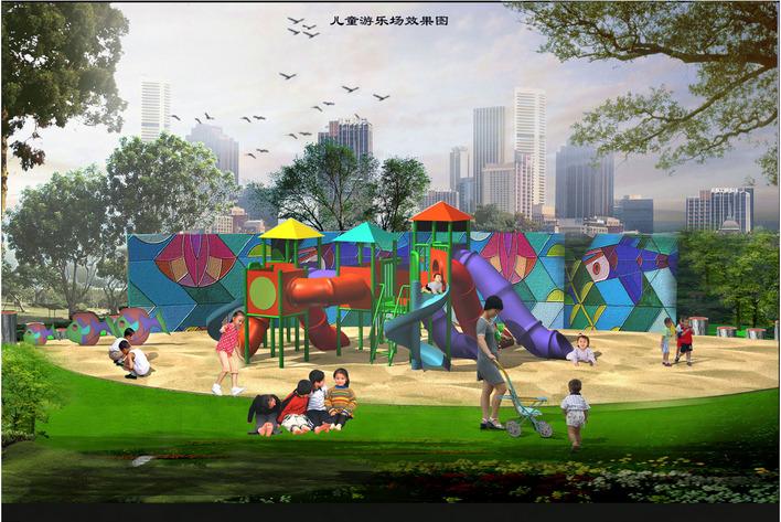 图纸 园林设计图 幼儿园游乐场效果图  上传时间:2006-11-23 所属分类