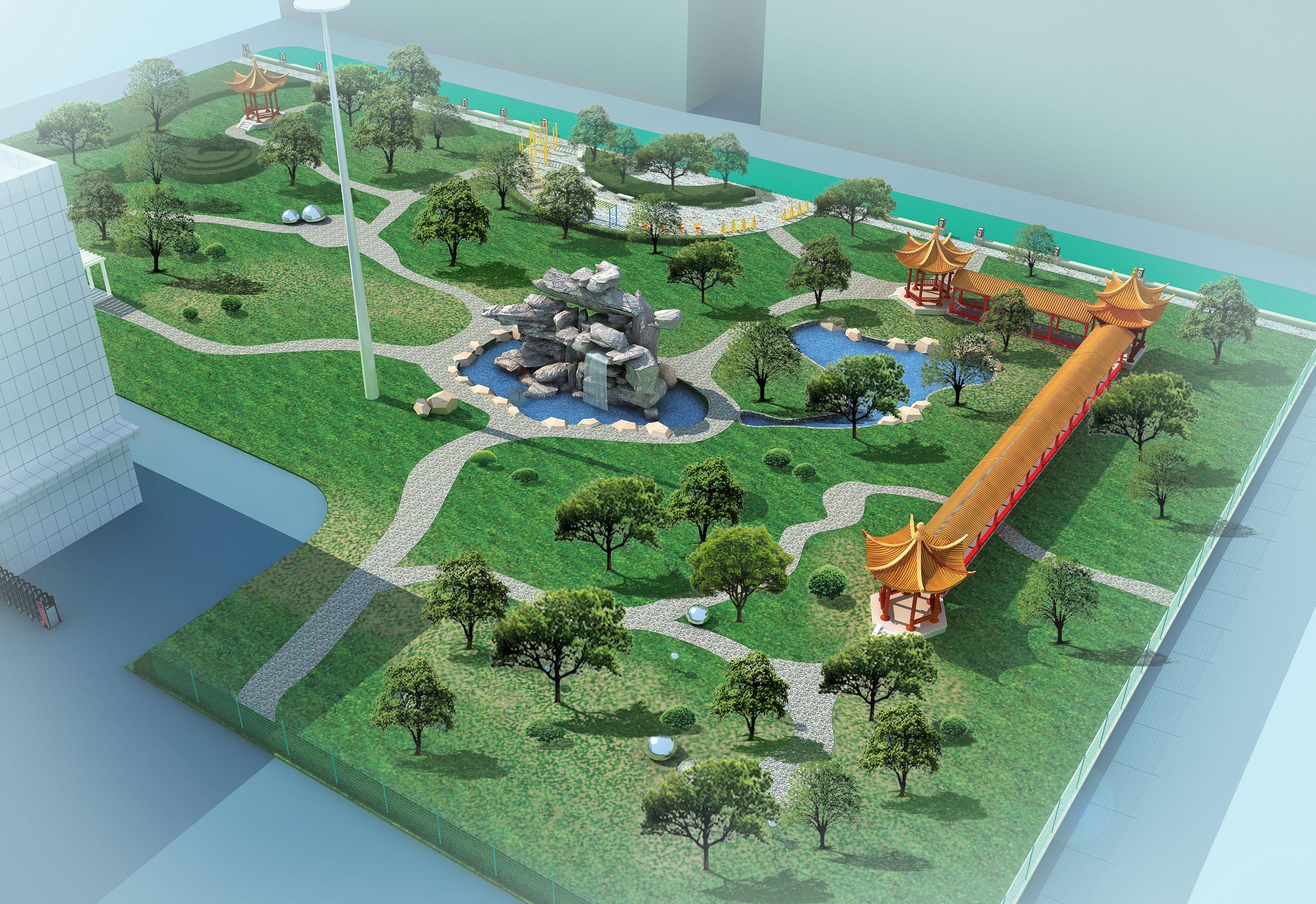 园林设计图 园林绿化及施工 居住区及公园绿化设计图 单位小区花园