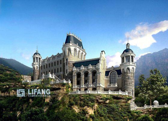 某五层欧式建筑外挂石材幕墙建筑施工图 农村欧式建筑别墅全套施工图图片