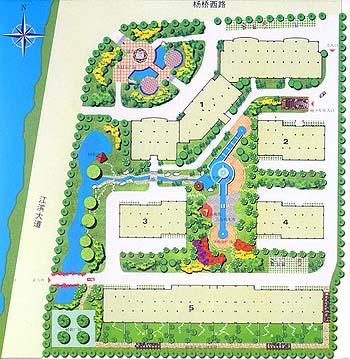 碧桂园住宅小区规划总平面图(带8个户型平面) 某小区环境整治工程小区