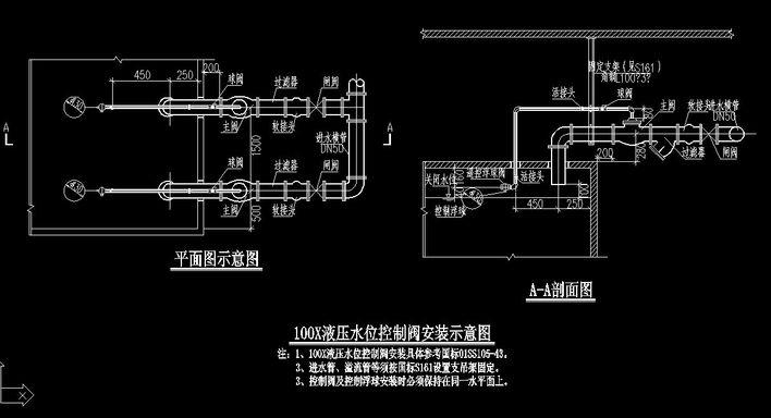 液压水位控制阀安装示意图图片