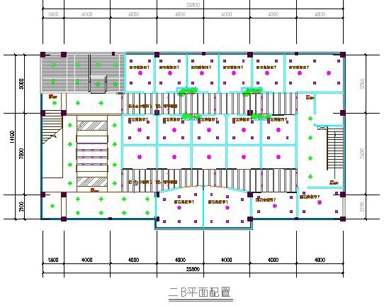 咖啡厅施工方案含cad平面图    施工现场平面布置图