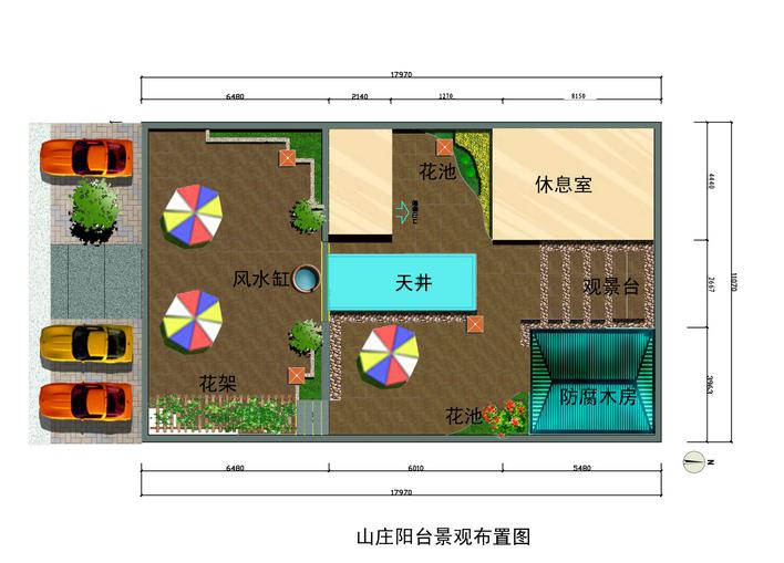 图纸 园林设计图 景观规划设计 庭院景观规划设计图 别墅阳台花园规划