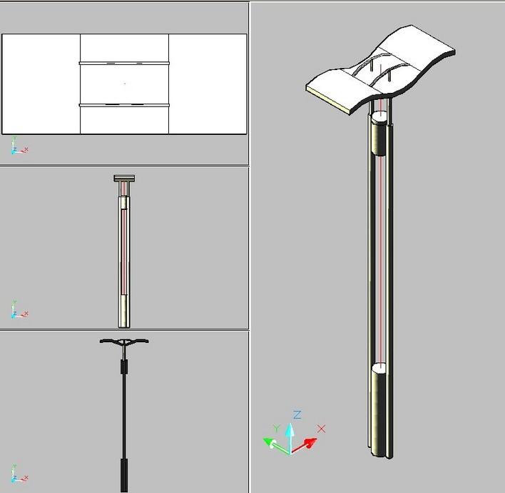 某小区花架含材料,尺寸标准的三视图设计 各种型号规格水泵的三视图
