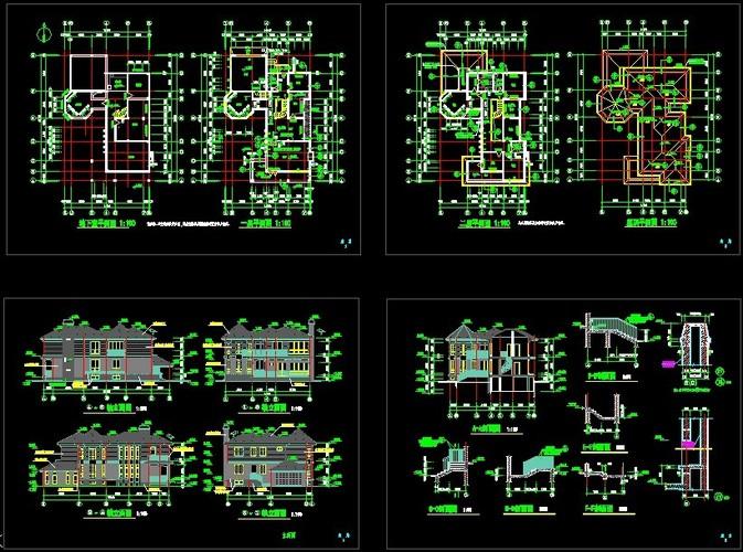 南方别墅建施施工图
