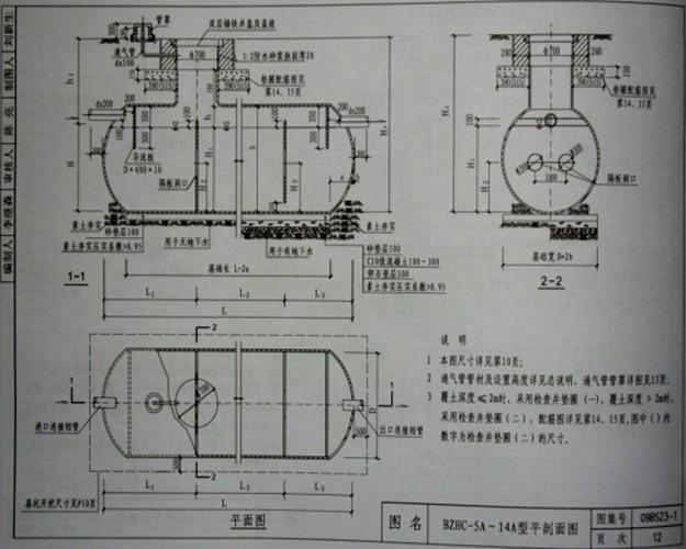 化粪池标准图集 化粪池构造图 成品化粪池规格