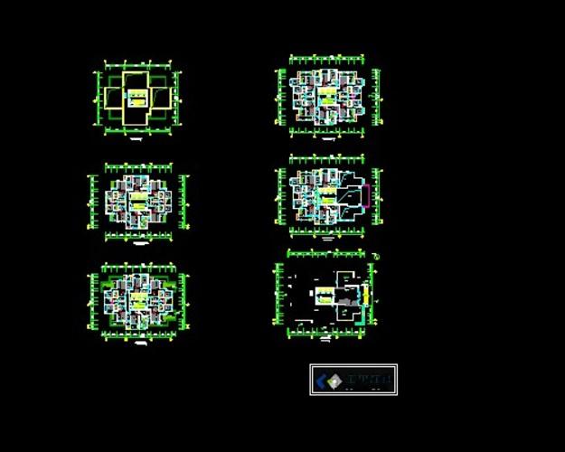 某高层三梯六户户型图