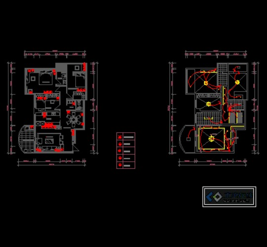 图纸 建筑图纸 居住建筑 住宅单体平面,立面,剖面图 某小区户型的平面
