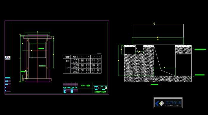 金属铠装式高压柜,即中置柜 kyn28 结构施工用地基图.