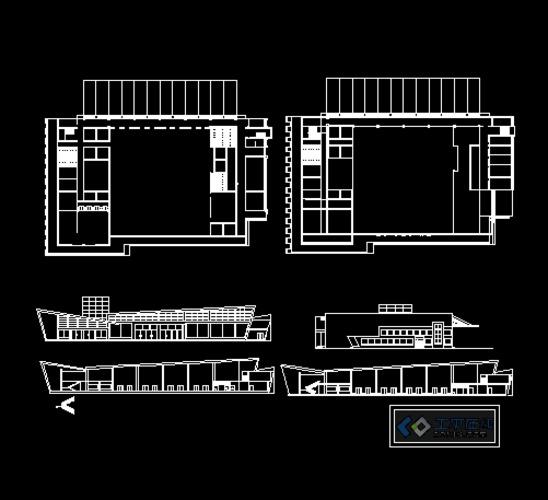 汽车站设计方案图纸(大三设计作业),平立剖齐全