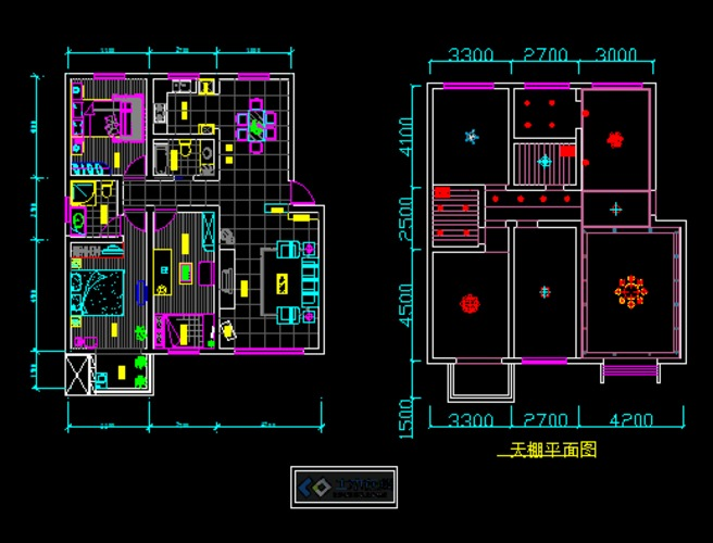 三居室平面布置图