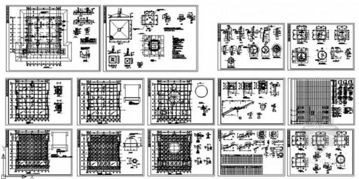 某寺庙框架结构图纸
