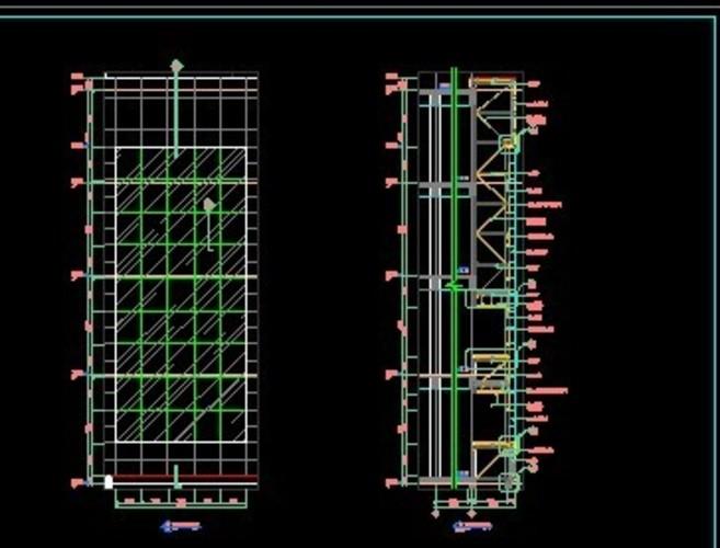 某展览馆幕墙工程结构施工图(石材幕墙,玻璃幕墙) 全套玻璃幕墙大样和