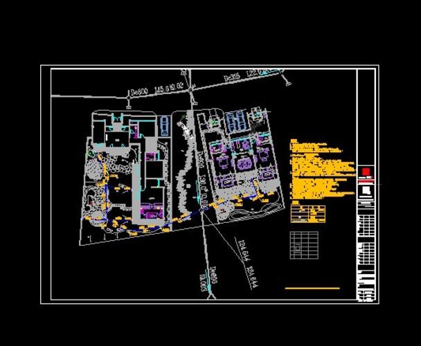 别墅温泉给排水系统图