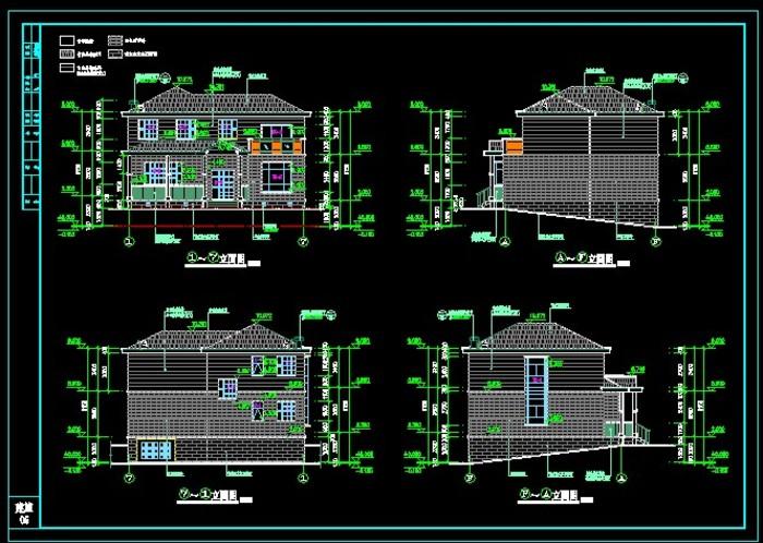 农村两层别墅施工图