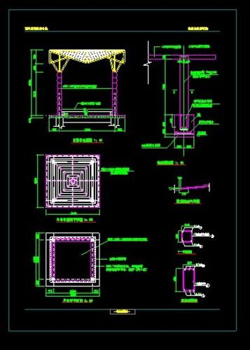 木亭施工图 全木结构 东南亚简约风格六角木亭施工图 仿古建六角木亭