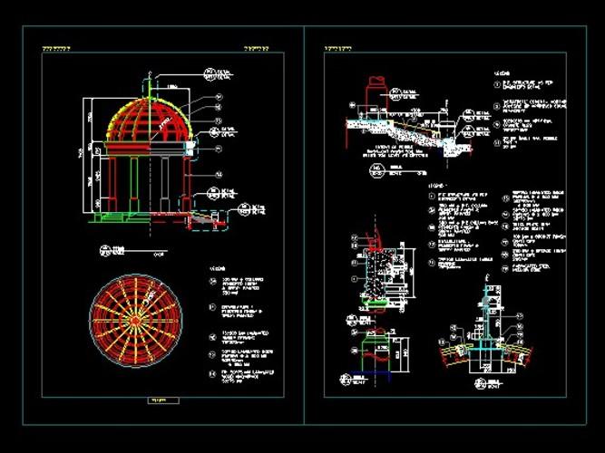 欧式六角亭施工图