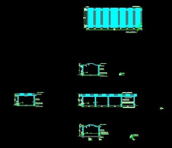 弧形景观花架施工图_土木在线; 弧形景墙场地平面图及弧形景墙立面图