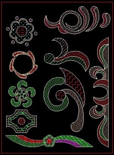 模纹花坛设计平面图 模纹花坛设计图