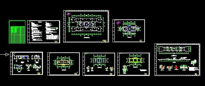 控制室图纸,包括控制室的建筑结构图和地磅的基础图