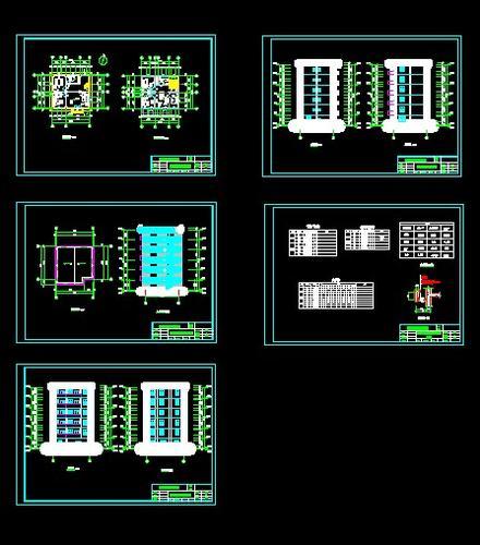 【房屋建筑学】房屋建筑学课程设计!_cad图纸下载图片