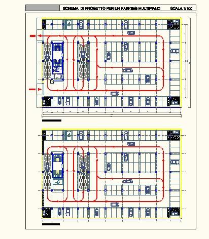 停车场平面图,三例,cad