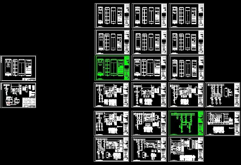 变频柜一拖几电气原理图纸