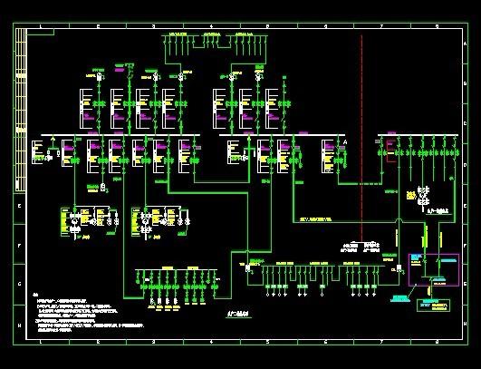 糖厂10kv电气主接线图(二期工程)