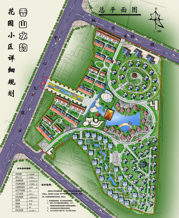 某小区规划方案设计 高清图片