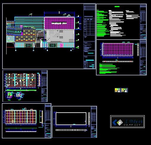 led显示屏钢结构框架图纸