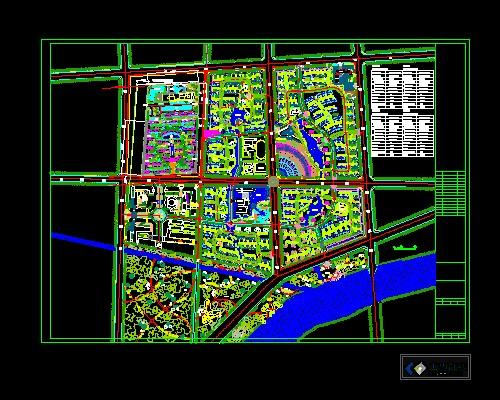小区规划园林景观设计图
