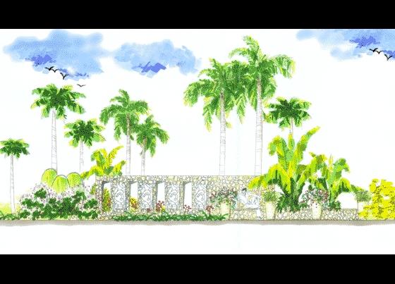景观手绘效果图 展厅手绘效果图