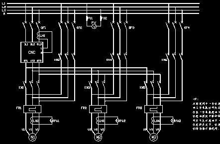 软启动原理图 软启动器一拖二接线图