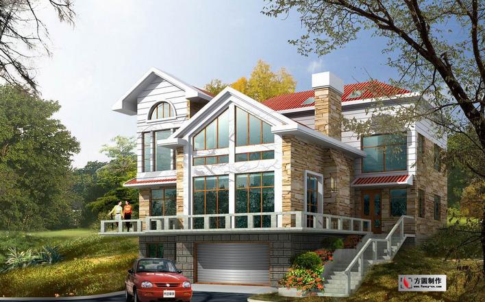 共100张 花园洋房奢华欧式四层别墅装修图(含效果图,共63张) 中式风格