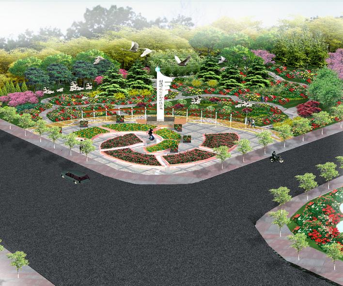 园林绿化及施工 广场游园绿化设计图 广场效果图  上传时间:2006-11
