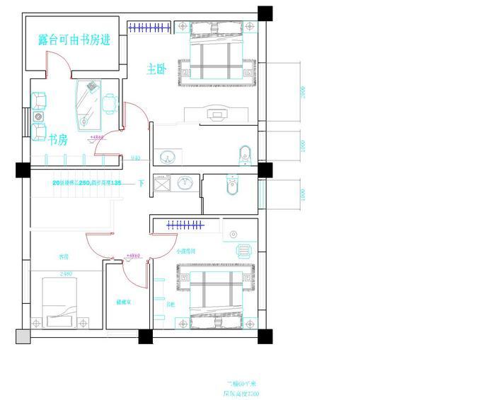 农村别墅平面cad; 的,主要房间朝南,采光好,面积170~180平方,有什么可以免费领红包