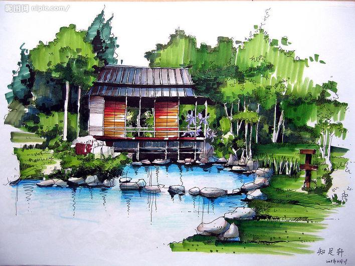 相关专题:园林景观小品手绘效果图 园林手绘亭子效果图 园林手绘