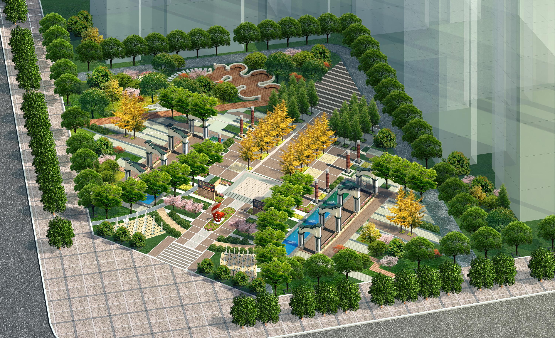 城市休闲绿地效果