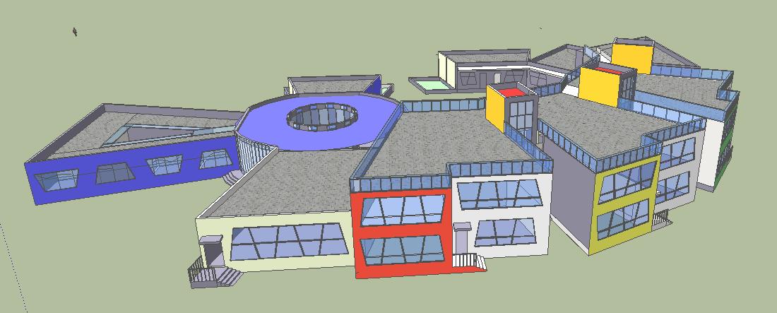 图纸 建筑图纸  幼儿园设计   文件是su模型,不错的作品,保证你物有所
