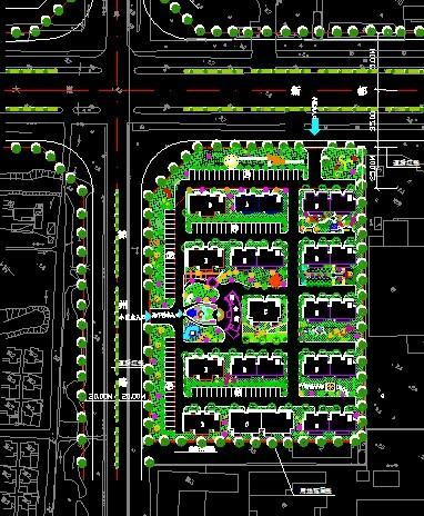 花园小区总平面图CAD图片