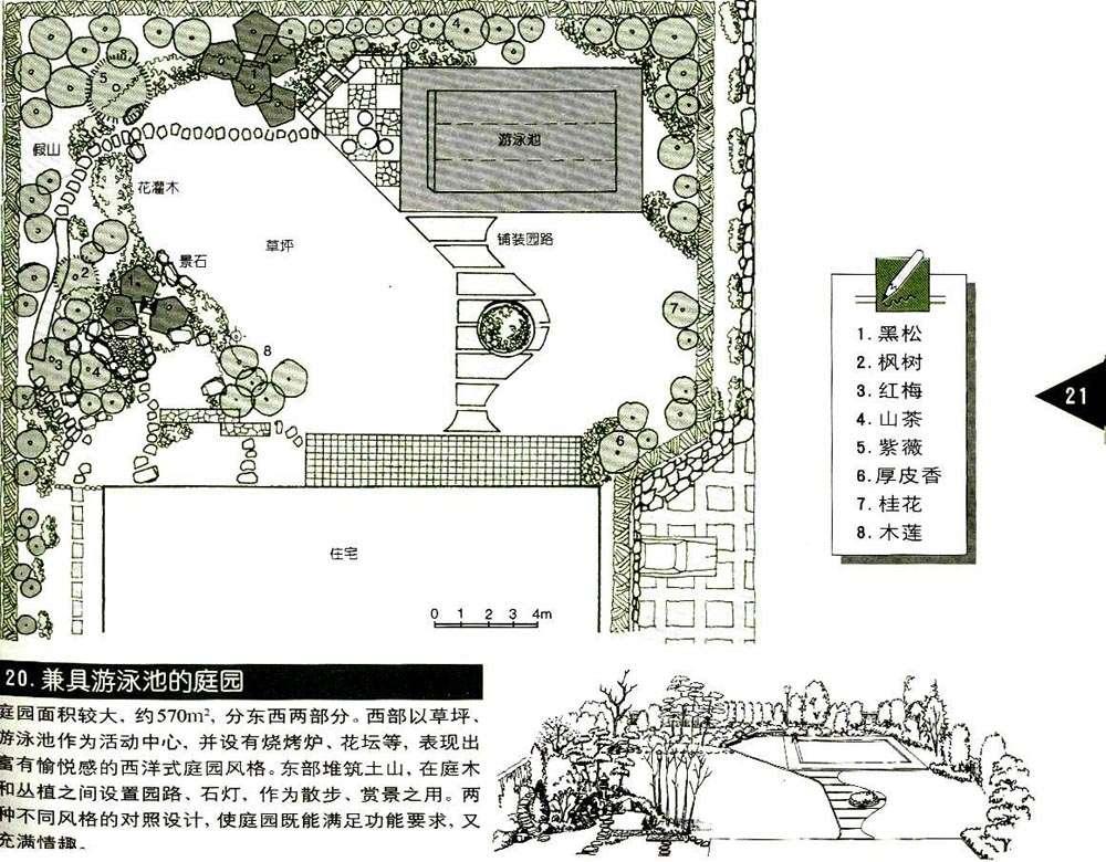 100个别墅及庭院手绘图