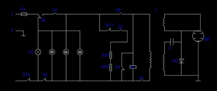 微波炉变压器原理图 微波炉变压器接线图