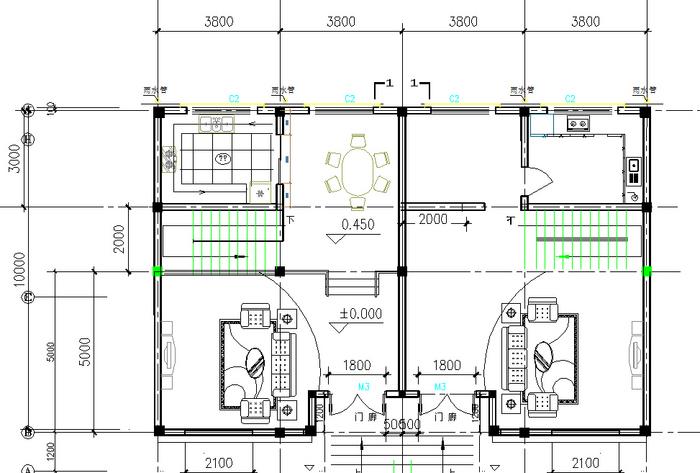 农村二层别墅建筑图
