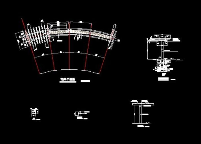 亭子与廊设计图(亭子设计图)  单臂花架二栏单栅详图    说明:钢木合