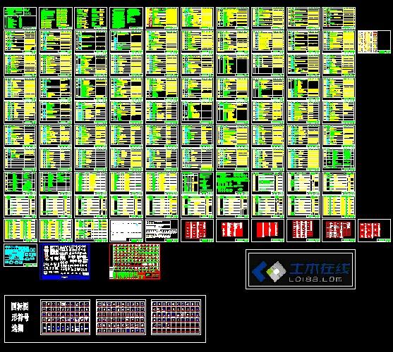 工地电气标准图纸图例大门总集_cad符号下载电气国家v工地cad图纸图片