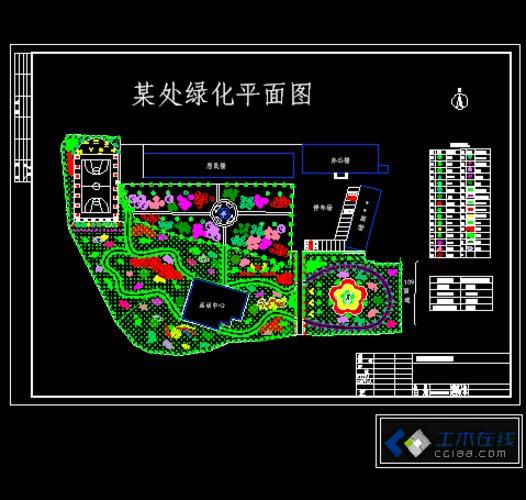 别墅庭院绿化平面图图片;; 庭院绿化设计平面图; 条形花坛平面图花坛