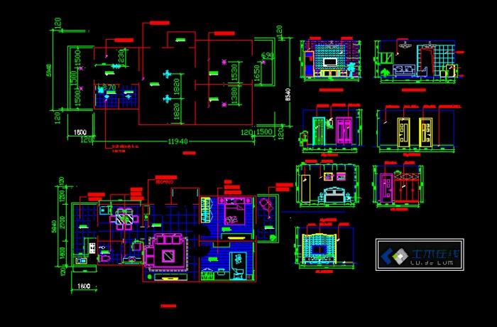 小户型室内装修图 CAD图
