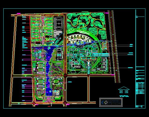 湖南城市学院全套设计规划图和效果图 青岛黄海学院图书馆区总平面