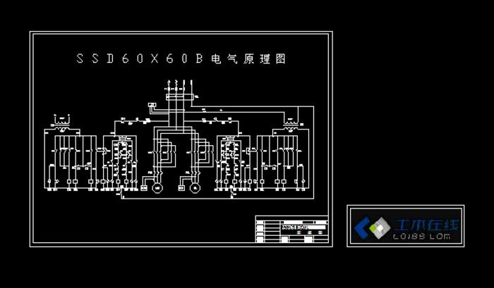 ssd60x60b建筑工程升降机电气控制原理图;