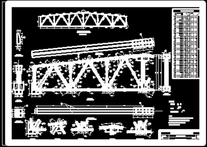 18m跨梯形钢屋架施工图